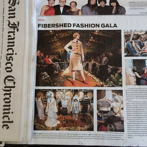 SF Chronicle- Fibershed Fashion Gala