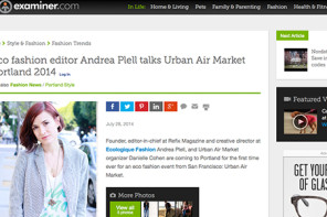Eco fashion editor Andrea Plell talks Urban Air Market Portland 2014